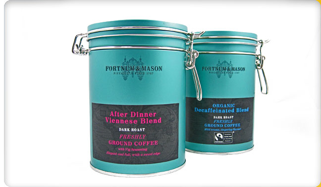 Packaging Design For Fortnum And Mason Coffee Tins